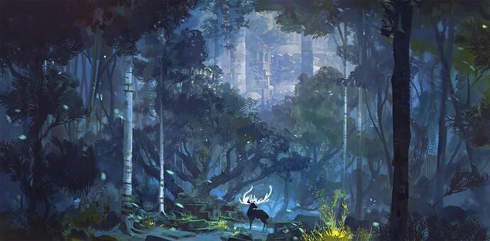 blue forest light