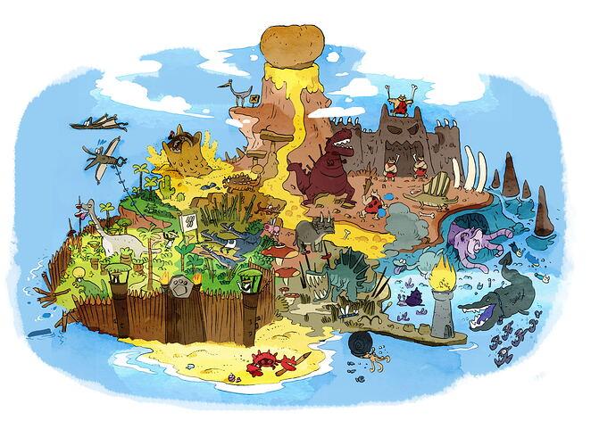Carte Dino MAP NEWS 8