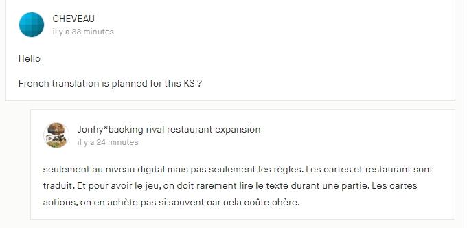 rival restaurant