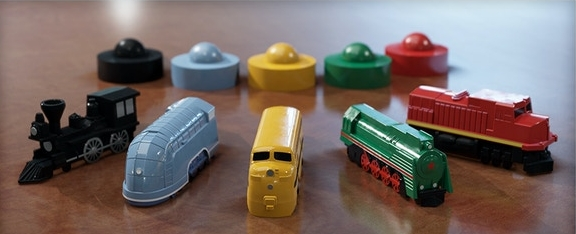 Deluxe Board Game Train Sets by The Little Plastic Train Company