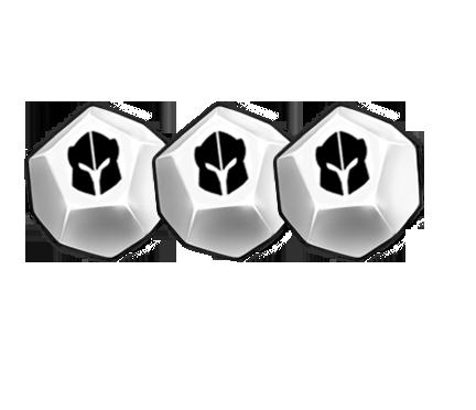 3 dé 12 blanc
